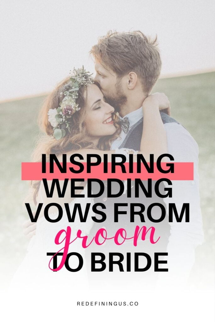 Alternative Christian Wedding Vows from Groom to Bride