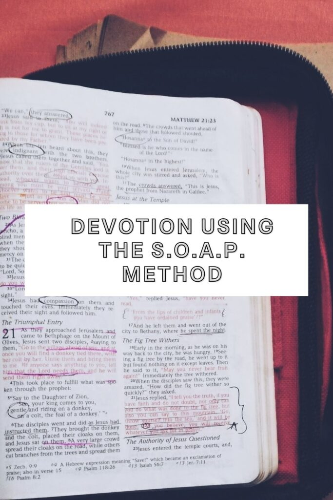 How to do devotion using the SOAP method