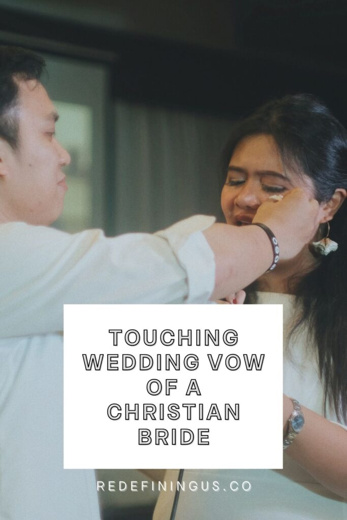 """Touching wedding vow of a Christian bride, """"wedding vows sample"""""""