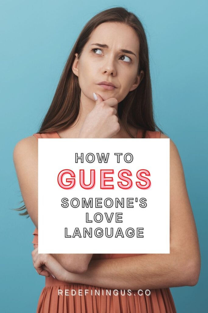 how to guess someone's love language