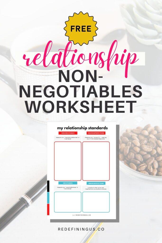 relationship standards worksheet