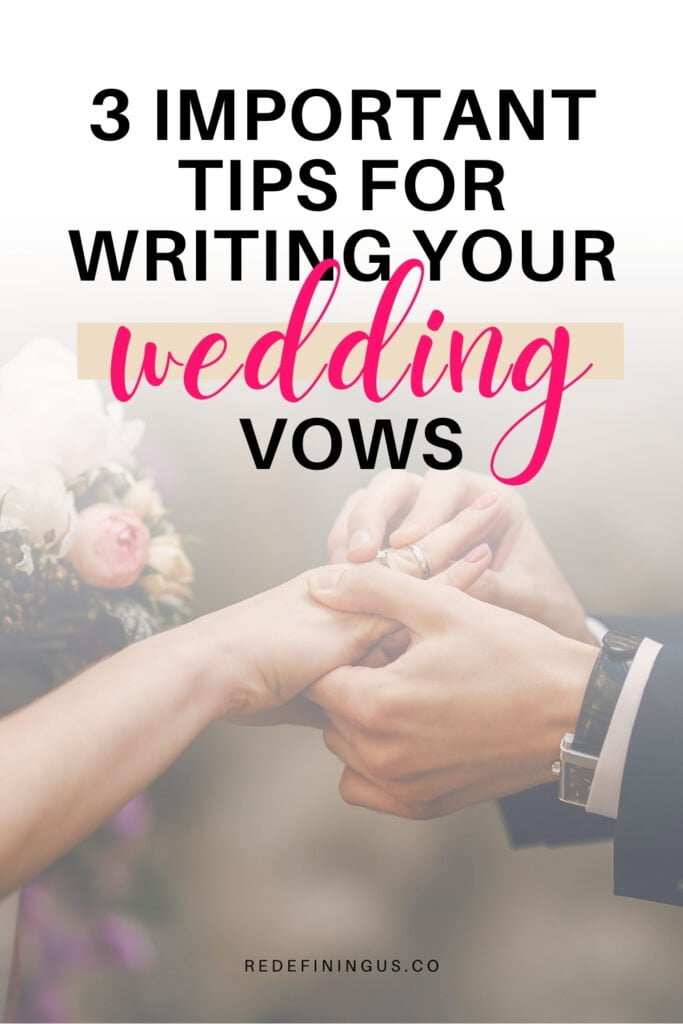 important tips for writing wedding vows