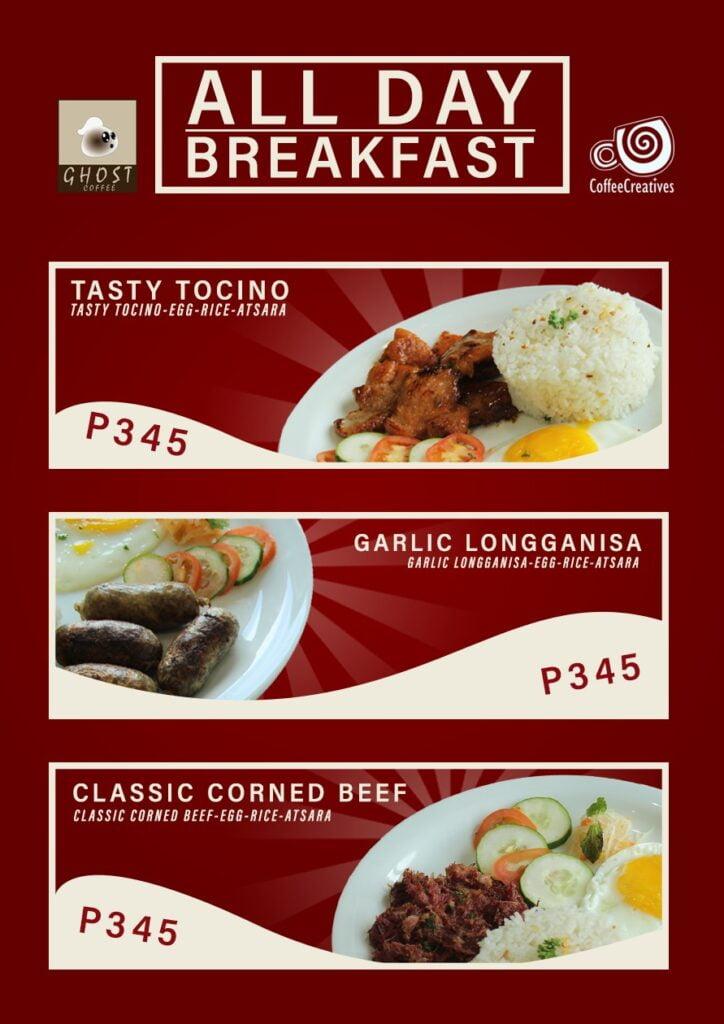 Ghost coffee menu breakfast